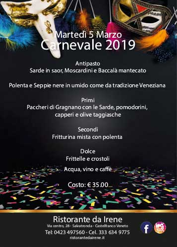 Martedì grasso Carnevale 2019