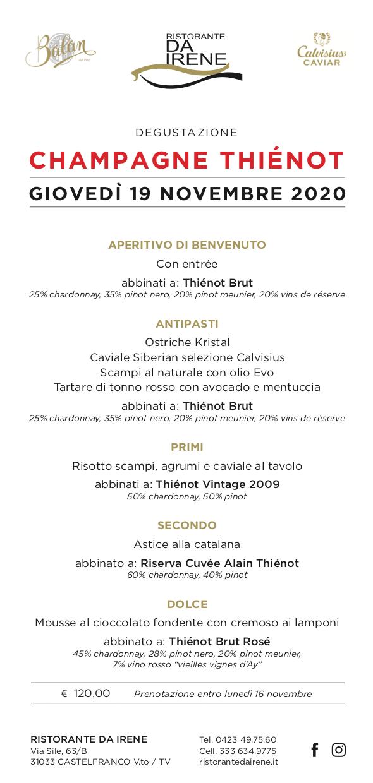 degustazione champagne thiénot